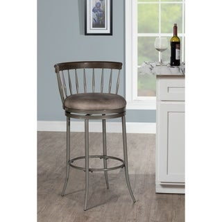 """Hillsdale Furniture Cortez Swivel Counter Stool, Pewter, 26"""""""