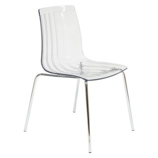 Link to LeisureMod Ralph Mid-Century Modern Clear Dining Side Chair Similar Items in Dining Room & Bar Furniture