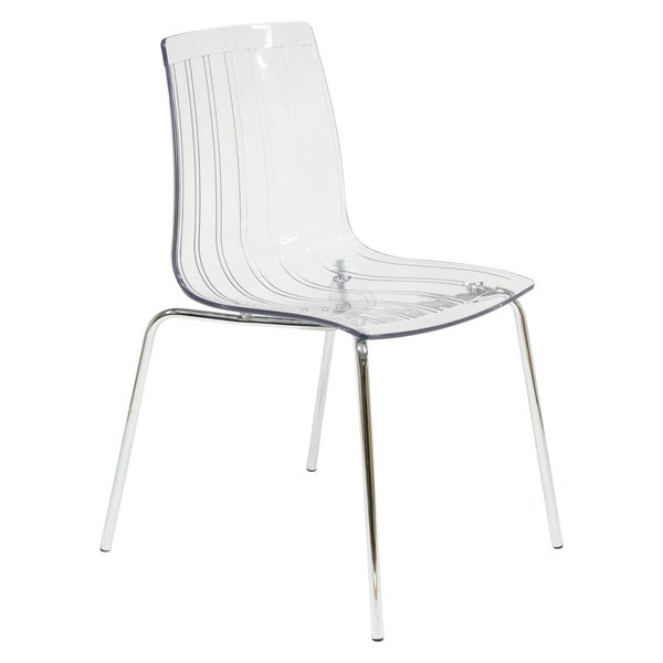 LeisureMod Ralph Mid-Century Modern Clear Dining Side Chair. Opens flyout.