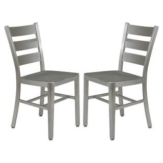 LeisureMod Delmar Modern Aluminum Dining Chairs (Set of 2)