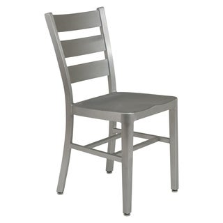 LeisureMod Delmar Modern Aluminum Dining Chair