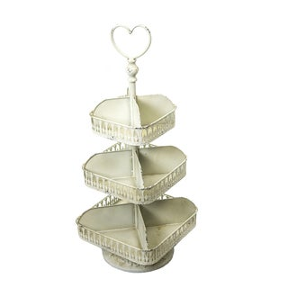 Sagebrook Home-3 Tier Metal Divided Tray