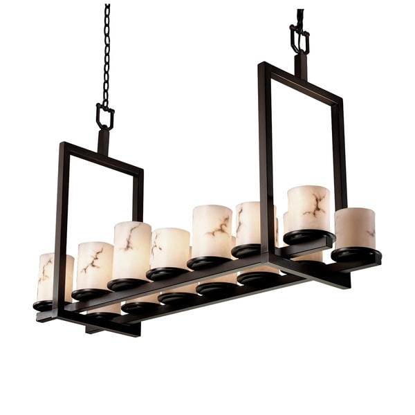 Justice Design LumenAria Dakota Dark Bronze 14-light Chandelier
