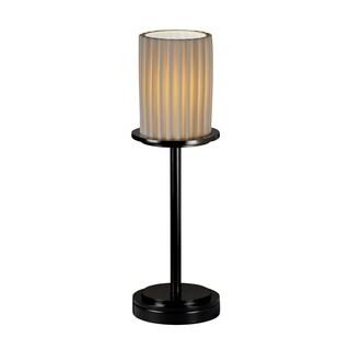 Justice Design Limoges Dakota Matte Black Table Lamp