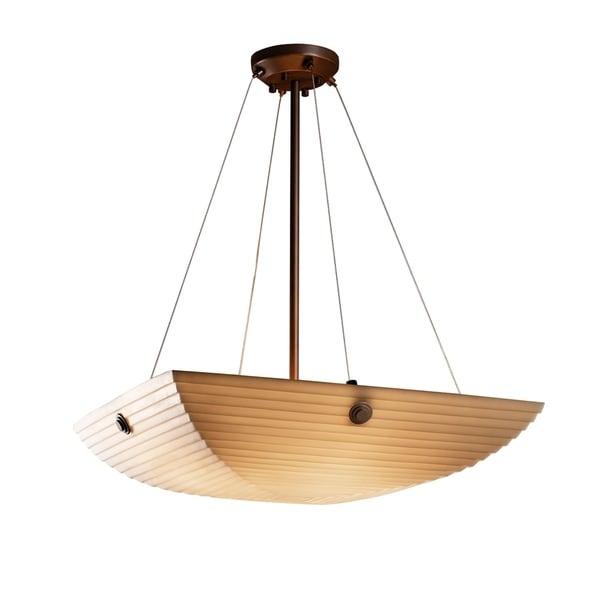 Justice Design Porcelina Finials Dark Bronze 6-light Pendant