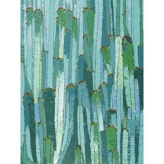 Jeco 'Green Cactus' Oil Painting Wall Decor