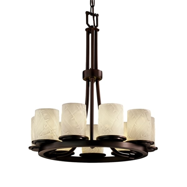 Justice Design Limoges Dakota Dark Bronze 9-light Chandelier