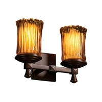 Justice Design Veneto Luce Deco Dark Bronze 2-light Bath Bar