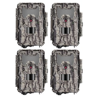 Bushnell HD Aggressor Trophy Cam HD 24MP Low-Glow Trail Cam, 1080p Video, 4-Pack