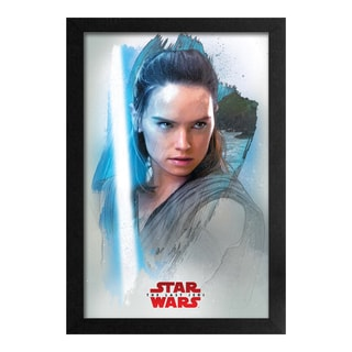 Star Wars - Last Jedi - Rey Profile - Framed 11x17 print