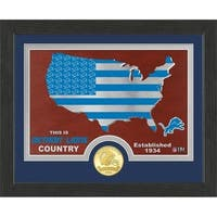 "Detroit Lions ""Country"" Bronze Coin Photo Mint - Multi-color"