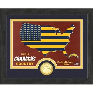 """Los Angeles Chargers """"Country"""" Bronze Coin Photo Mint - Multi-color"""