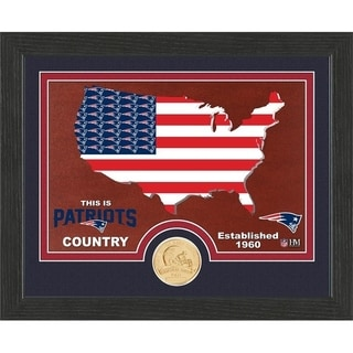 "New England Patriots ""Country"" Bronze Coin Photo Mint - Multi-color"