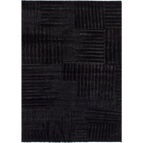 ecarpetgallery Machine-Made Soho Black Shag (5'4 x 7'8)
