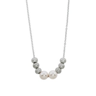 Eternally Haute Pearl and Bead Station Necklace