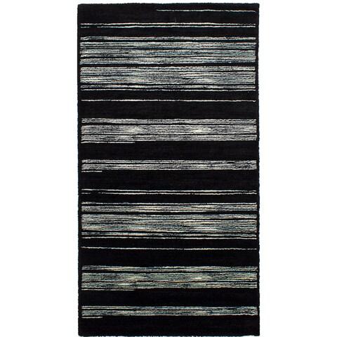 ecarpetgallery Machine-Made Soho Black Shag (5'5 x 10'5)
