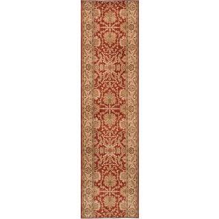 eCarpetGallery Lotus Garden Coral/Red Machine-made Rug (2'8 x 11'0)