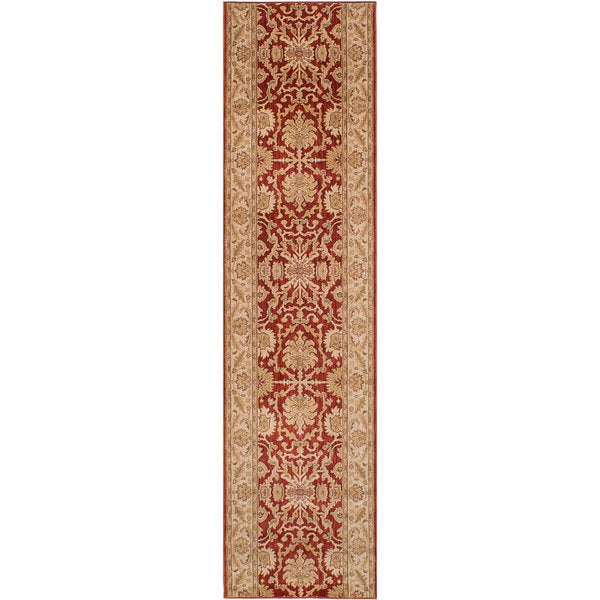 ecarpetgallery Machine-Made Lotus Garden Coral Red Red Rug (2'8 x 11'7)