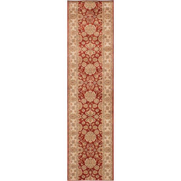 ECARPETGALLERY Machine Woven Lotus Garden Coral Red Polypropylene Rug - 2'8 x 11'6