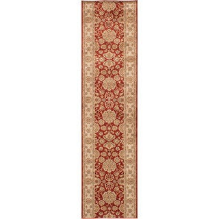 ecarpetgallery Machine-Made Lotus Garden Coral Red Red  Rug (2'8 x 11'6)