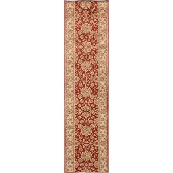 ecarpetgallery Machine-Made Lotus Garden Coral Red Red Rug (2'8 x 11'6)