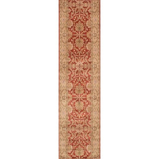 ecarpetgallery  Machine-Made Lotus Garden Coral Red Red  Rug (2'8 x 10'8)