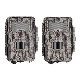 Bushnell HD Aggressor Trophy Cam HD 24MP Low-Glow Trail Cam, 1080p Video, 2-Pack