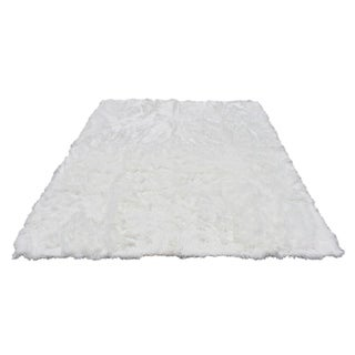 Link to Walk on Me Faux Sheepskin Rectangle Faux Fur Machine Washable Area Rug Similar Items in Shag Rugs