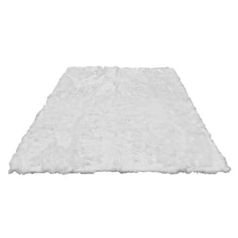 8x10 Soft and Plush Faux Sheepskin Shag Area Rug