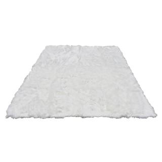 8x10 Soft and Plush White Faux Sheepskin Shag Area Rug - 8' x 10'