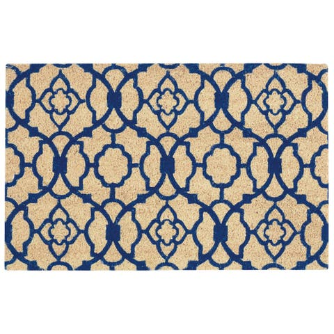 """Waverly Greetings """"Lovely Lattice"""" Navy Doormat by Nourison (2' x 3')"""