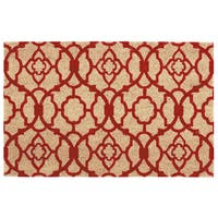 "Waverly Greetings ""Lovely Lattice"" Red Doormat by Nourison - 2' x 3'"