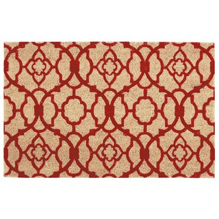 "Waverly Greetings ""Lovely Lattice"" Red Doormat by Nourison (2' x 3')"