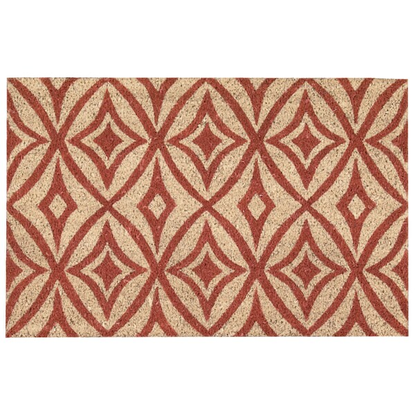 """Waverly Greetings """"Centro"""" Henna Doormat by Nourison (2' x 3') - 1'6 x 2'4"""
