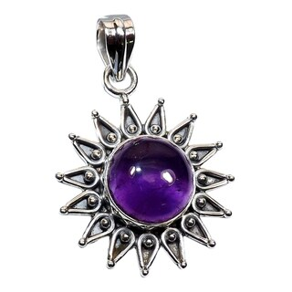 Handmade Sterling Silver Gemstone Pendant Necklace (India)
