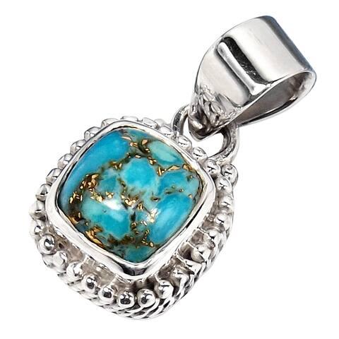 Handmade Sterling Silver Gemstone Pendant Necklace (India)