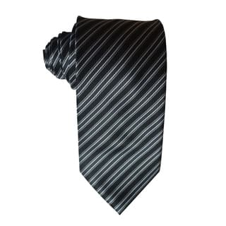 James Cavolini Italy Classic Black Striped Neck Tie|https://ak1.ostkcdn.com/images/products/17836913/P24026540.jpg?impolicy=medium