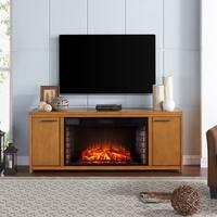 Gracewood Hollow Cusick Oak Finish Engineered Wood/Birch Veneer/Rubberwood 33-inch Widescreen Electric F