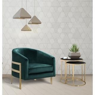 Chic Home Artemis Velvet Steel-frame Modern Contemporary Bucket Club Chair