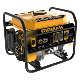 Firman P01202 Portable Generator With 12V Plug, Black/Yellow, 54 Lb