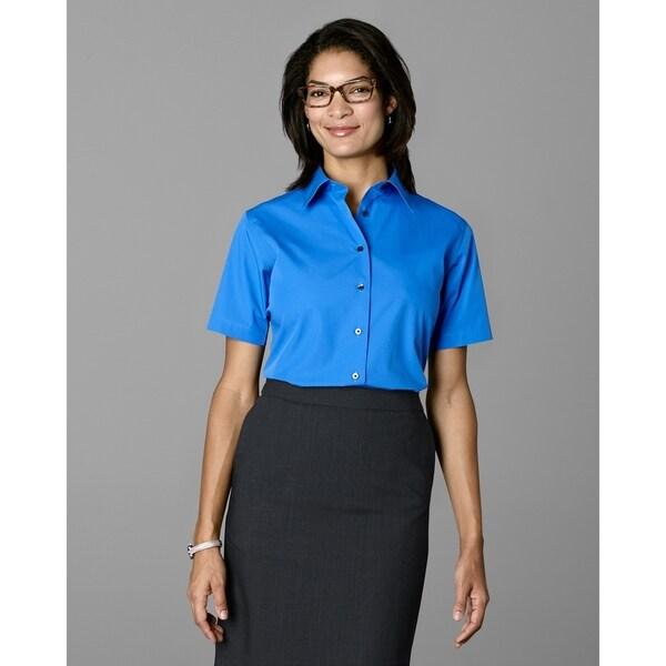 Twin Hill Womens Shirt Cobalt Cotton/Poly