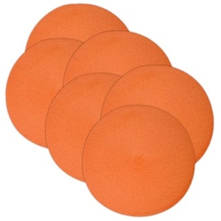 Guava Placemat- Round Braided Placemat Set of 6