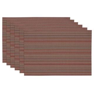 Tango Red Micro Stripe Placemat Set of 6