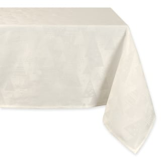 Holiday Trees Winter White Tablecloth - 60 X 60""