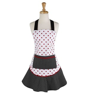 Black And Red Polka Dot Ruffle Apron|https://ak1.ostkcdn.com/images/products/17839068/P24028825.jpg?impolicy=medium