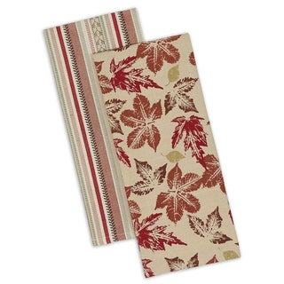 Rustic Leaves Dishtowel Set of 4