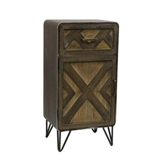 Luis Wood and Metal Cabinet