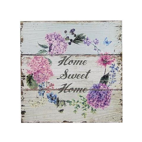 Home Sweet Home Flowers Plaque