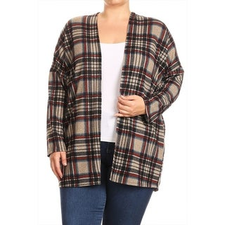 Women's Plus Size Plaid Pattern Cardigan (3 options available)