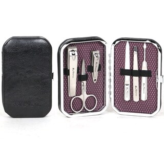 "Ben Sherman ""Edgware"" 6-Piece Personal Grooming Set With Faux Leather Hinged Carrying Case"
